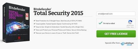 Bản quyền miễn phí phần mềm bảo mật danh tiếng Bitdefender Total Security 2015