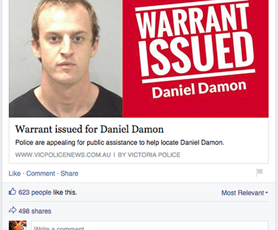 Tội phạm đối thoại với cảnh sát trên Facebook