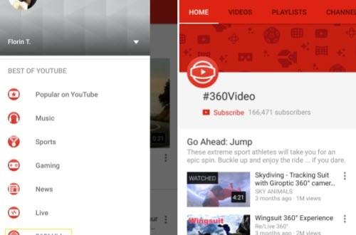 Xem video 360 độ độc đáo trên YouTube