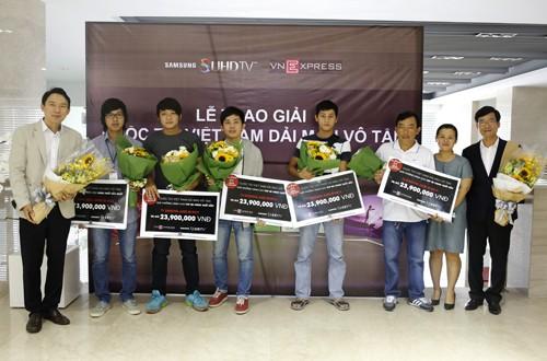 Trao giải cuộc thi 'Việt Nam dải màu vô tận'