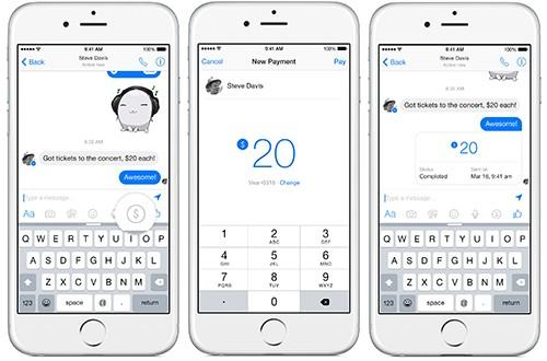 Facebook Messenger mở rộng tính năng chuyển tiền