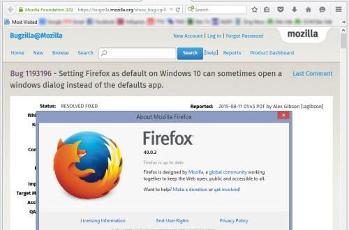 """Bị Windows 10 """"làm khó"""", Mozilla tung Firefox 40.0.2"""