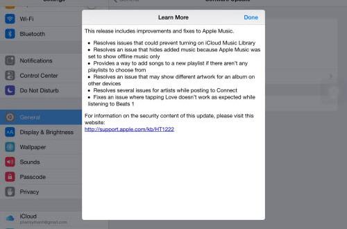 iOS 8.4.1 chính thức ra lò, tập trung sửa lỗi Apple Music