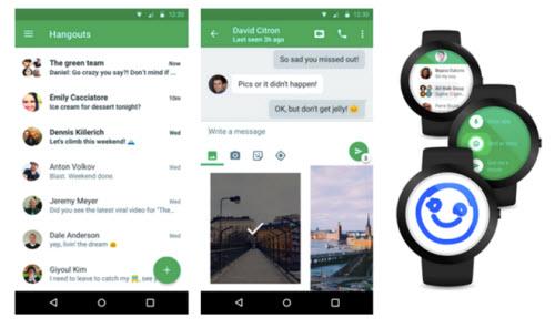Google Hangouts thay đổi thiết kế trong phiên bản mới