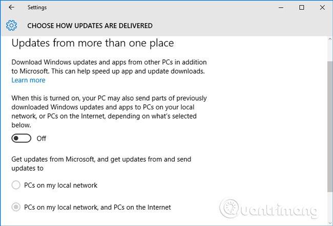 tắt tính năng update p2p