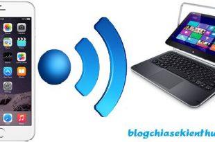 Cách phát Wifi từ iPhone sang Laptop dạng ADSL, tốc độ cao!