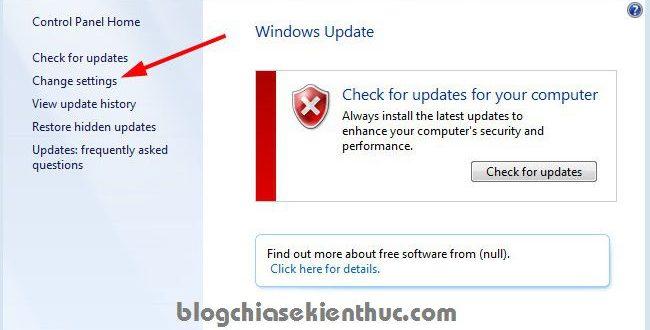 [Tips] Hướng dẫn sửa lỗi check update Windows 7 thành công 100%