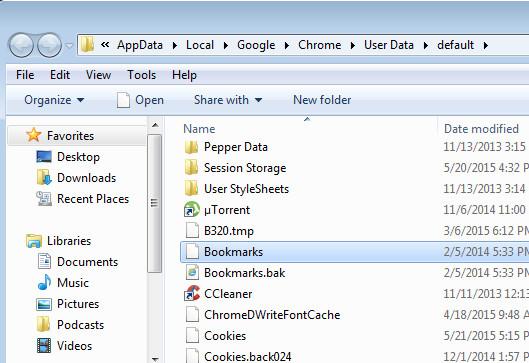 Sửa lỗi biểu tượng Bookmark trên trình duyệt Chrome bị mất