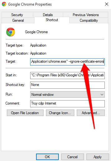 Khắc phục lỗi chứng chỉ bảo mật - Link https bị gạch chéo đỏ