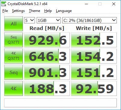 Thử nghiệm với Optane 16GB và ổ cứng Seagate Barracuda 2TB.