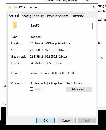 Ổ đĩa C bị đầy ? Giải pháp di chuyển dữ liệu Zalo từ ổ C sang D, E, F