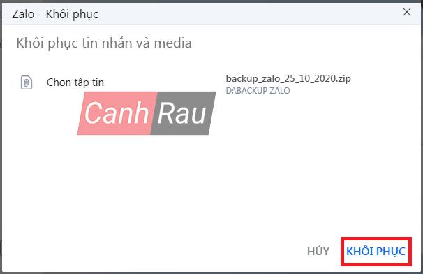 Cách sao lưu tin nhắn Zalo trên máy tính PC hình 11