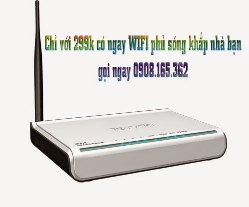 Lắp đặt wifi giá siêu rẻ chỉ với 299k