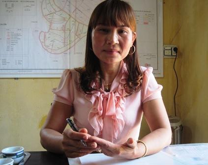 Bà Đỗ Thị Biên - Chủ tịch Hội phụ nữ xã Trung Ý.