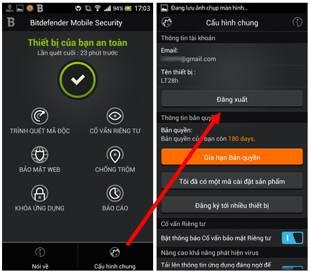 Hướng dẫn cách thức gỡ bỏ BitDefender Mobile Security & Antivirus ra khỏi thiết bị
