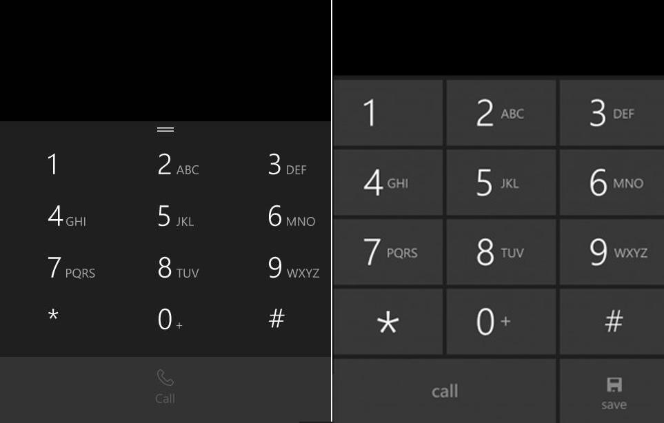 Giao diện bàn phím gọi thoại