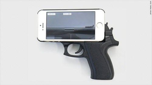 Vỏ bảo vệ iPhone hình khẩu súng khiến cảnh sát lo ngại - 1