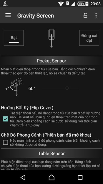 Tự động tắt/mở màn hình smartphone không cần dùng đến nút nguồn