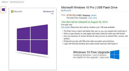 """Windows 10 được niêm yết giá, """"đóng gói"""" trong USB - 1"""