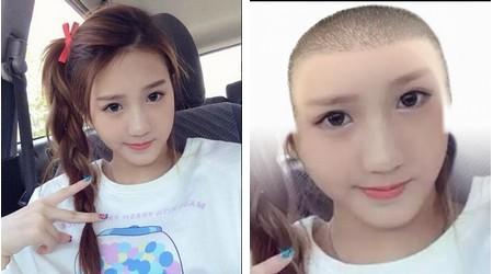 """Hình ảnh gốc và hình ảnh sau khi đã """"cạo trọc đầu"""" bằng NoHairSelfie"""