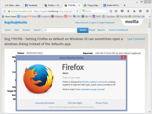 """Bị Windows 10 """"làm khó"""", Mozilla tung Firefox 40.0.2 - 1"""