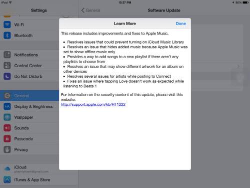 iOS 8.4.1 chính thức ra lò, tập trung sửa lỗi Apple Music - 1