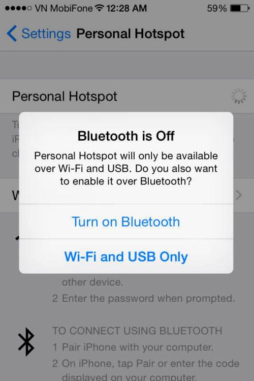 """Dùng iPhone phát Wi-Fi trong """"một nốt nhạc"""" - 4"""