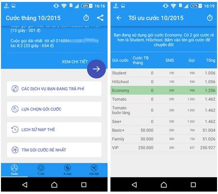 Ứng dụng hữu ích giúp dễ dàng quản lý cước phí di động trên smartphone