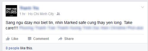 Khủng bố ở Paris: Nhiều người Việt xác nhận an toàn trên Facebook - 2